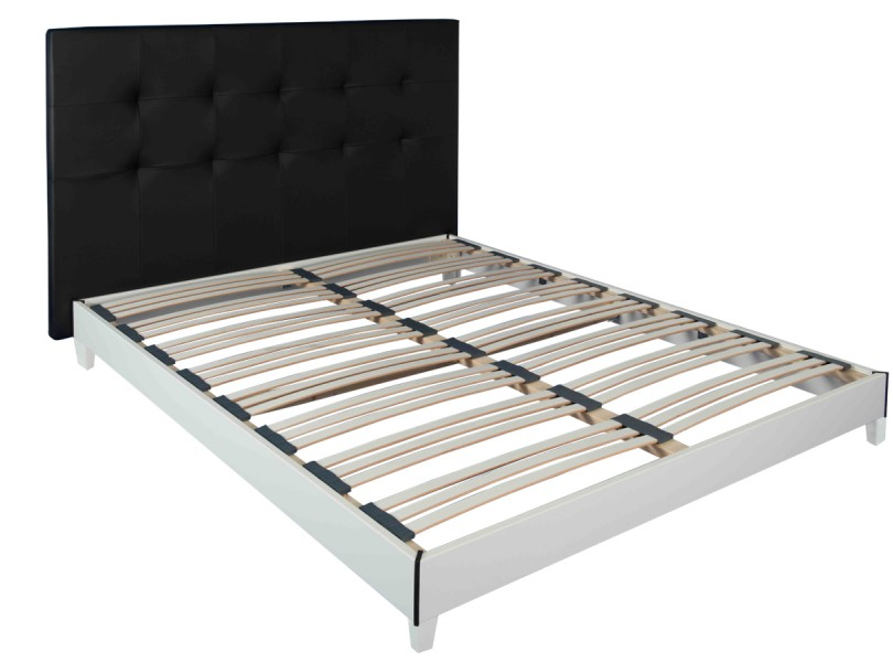 sommiers sommier kit blanc literie matelas pour. Black Bedroom Furniture Sets. Home Design Ideas