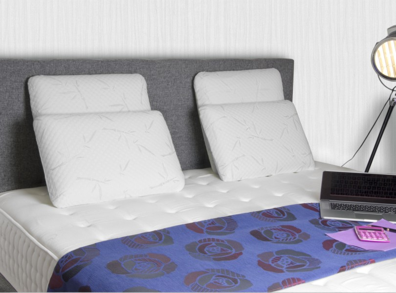 oreillers et traversins lot 2 oreillers visco elastique literie matelas pour. Black Bedroom Furniture Sets. Home Design Ideas