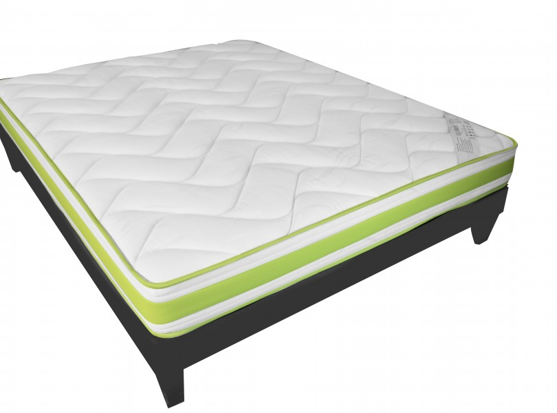 matelas matelas en mousse m moire de forme vert literie matelas pour. Black Bedroom Furniture Sets. Home Design Ideas